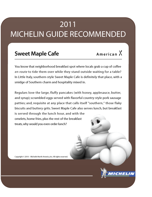 Michelin Guide Recommendation for Sweet Maple Cafe